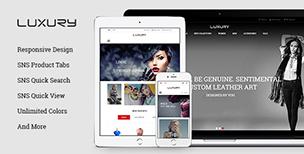 SNS Luxury - Responsive Magento Theme