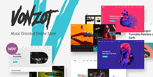 Vonzot - Music Oriented WooCommerce Theme