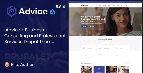 iAdvice - Business Consulting and Professional Services Drupal 8.6.4 Theme