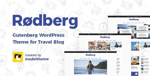 Rodberg - Travel Blog WordPress Theme Gutenberg Compatible
