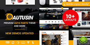 Autusin - Auto Parts Shop, Moto Store WooCommerce WordPress Theme (10+ Indexes & Mobile Layouts)