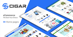Cigar - Mega Shop eCommerce Bootstrap 4 Template