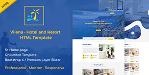 Vilena - Hotel and Resort Booking HTML Template