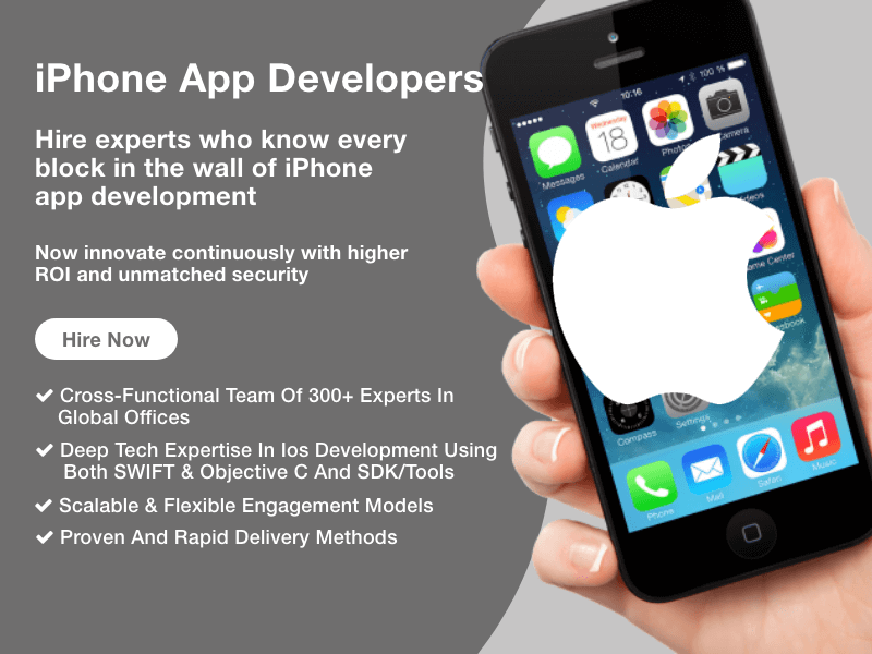 Hire iPhone App Developer from team of experts