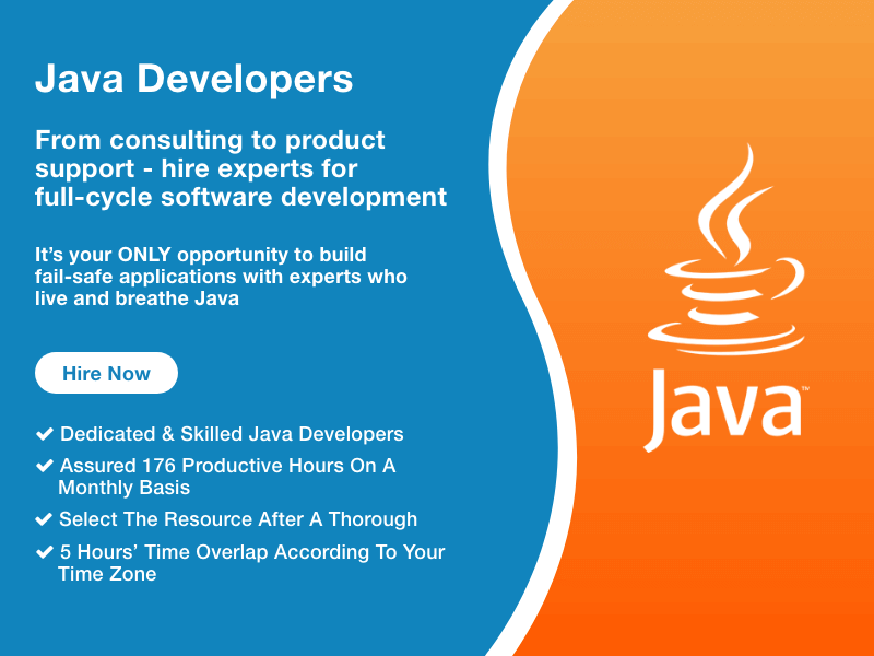 Hire Java Developers from team of experts