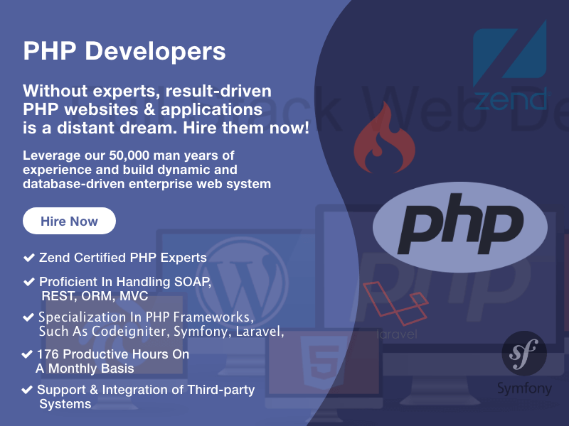Hire  PHP Developers from team of experts
