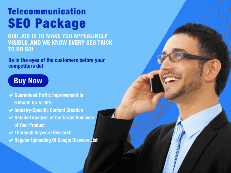 Buy Telecommunication SEO Package