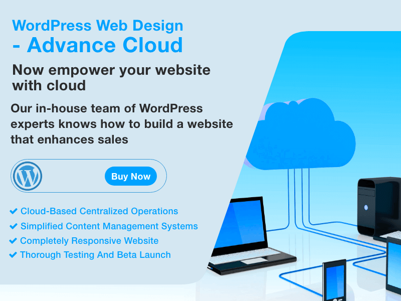 WordPress Web Design - Advance Cloud