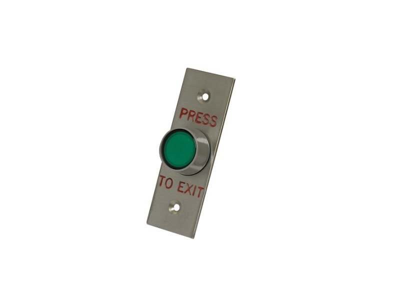 Illuminated Green Push-to-Exit Button