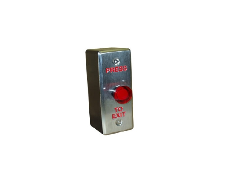 Illuminated RED Push-to-Exit Button
